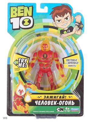 Ben10 Фигурка 16см (свет, звук), Человек-огонь BEN 10. Цвет: красный