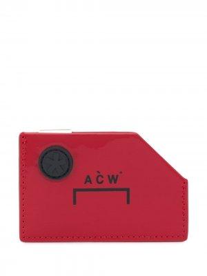 Кошелек Diecut с логотипом A-COLD-WALL*. Цвет: красный