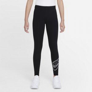 Леггинсы с графикой для девочек школьного возраста Sportswear Favorites - Черный Nike