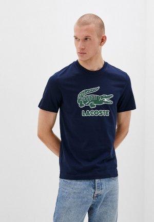 Футболка Lacoste. Цвет: синий