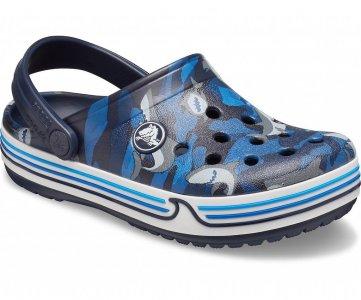 Сабо для мальчиков CROCS Preschool Crocband™ Shark Clog Navy арт. 206152. Цвет: navy