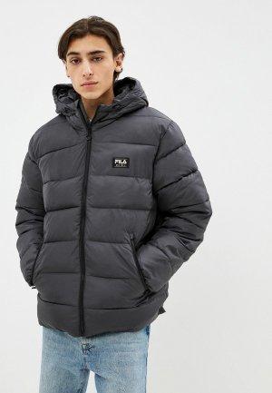 Куртка утепленная Fila. Цвет: серый