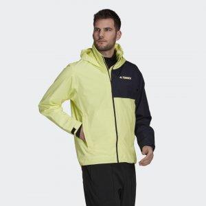 Куртка-дождевик Terrex Multi RAIN.RDY Primegreen adidas. Цвет: желтый