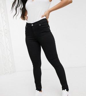 Черные супероблегающие джинсы с классической талией -Черный Dr Denim Petite