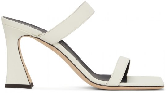 White Karmen Heeled Sandals Giuseppe Zanotti. Цвет: white