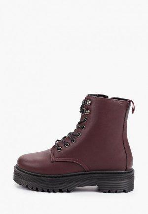Ботинки Trien. Цвет: бордовый