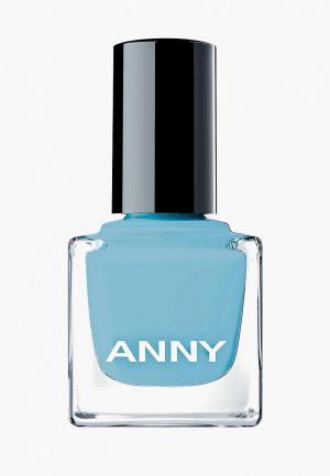 Лак для ногтей Anny парфюмированный, тон 404.40 голубой. Цвет: голубой