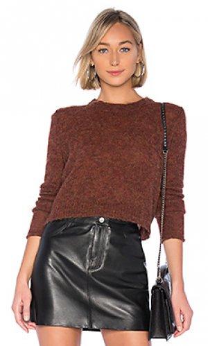 Пуловер mila crop One Grey Day. Цвет: коричневый