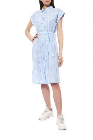 Платье Kaffe. Цвет: голубой, полоска
