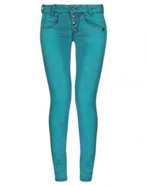 Джинсовые брюки FORNARINA. Цвет: изумрудно-зеленый