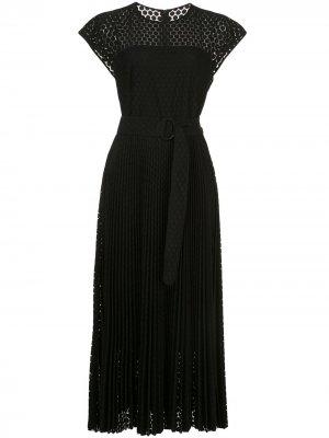 Расклешенное платье миди Akris Punto. Цвет: черный