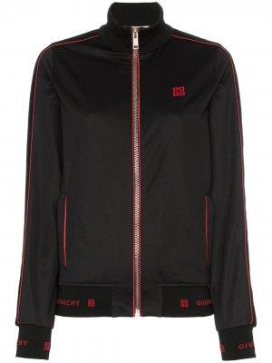 Спортивная куртка с вышитым логотипом Givenchy. Цвет: черный