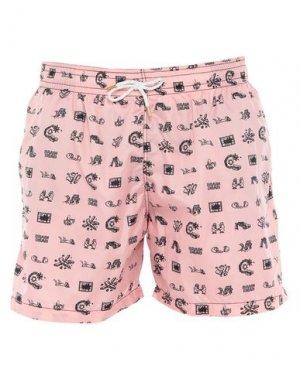 Шорты для плавания I-AM. Цвет: розовый