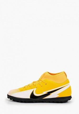 Шиповки Nike JR SUPERFLY 7 CLUB TF. Цвет: оранжевый