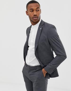 Серый однобортный приталенный пиджак Avail London