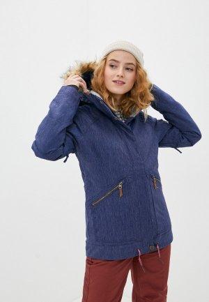 Куртка сноубордическая Roxy MEADE DENIM JK J SNJT BNG0. Цвет: синий