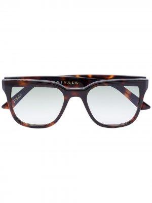 Солнцезащитные очки James Kirk Originals. Цвет: коричневый