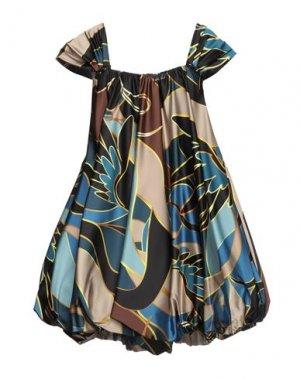 Короткое платье BABYLON. Цвет: цвет морской волны