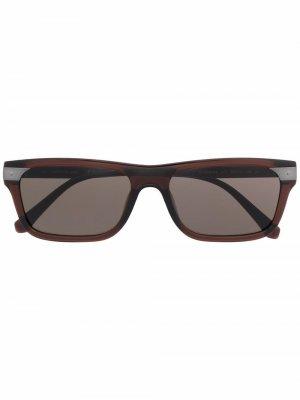 Солнцезащитные очки в квадратной оправе Calvin Klein Jeans. Цвет: коричневый