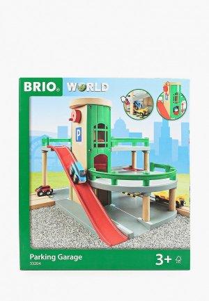 Конструктор Brio Парковка к ж/д с лифтом и 3 машинками, 34х19х39см.. Цвет: разноцветный