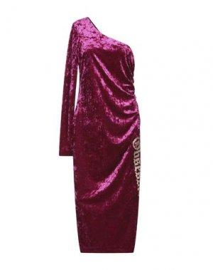 Платье длиной 3/4 ANIYE BY. Цвет: пурпурный