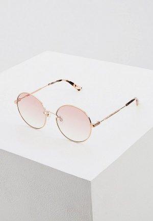 Очки солнцезащитные McQ Alexander McQueen MQ0267S 004. Цвет: золотой