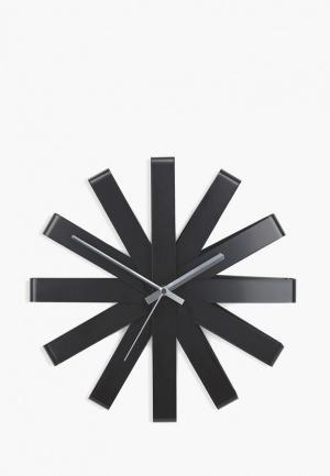 Часы настенные Umbra Ribbon. Цвет: черный