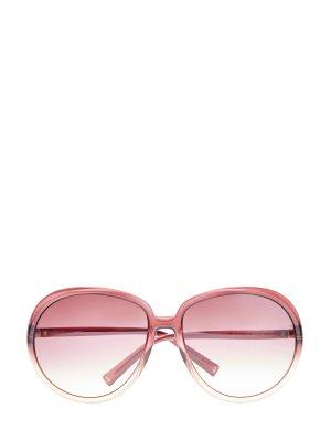 Солнцезащитные очки-oversize с градиентными линзами GIVENCHY (sunglasses). Цвет: розовый