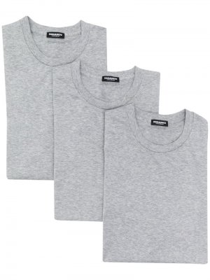 Комплект из трех футболок Dsquared2. Цвет: серый