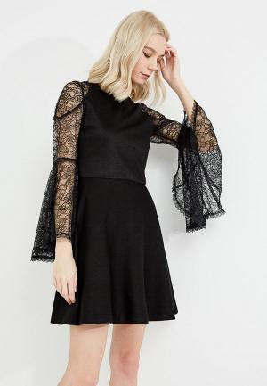 Платье Alice + Olivia. Цвет: черный