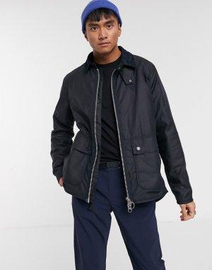 Темно-синяя вощеная куртка -Темно-синий Barbour Beacon