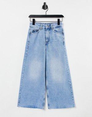 Укороченные джинсы с широкими штанинами Aiko-Голубой Dr Denim