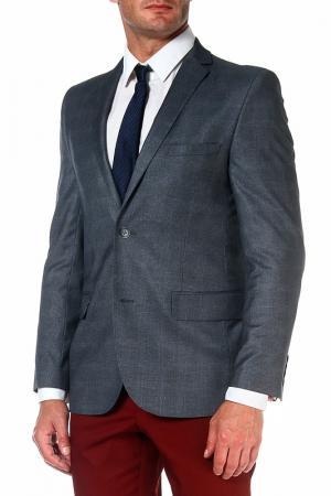 Пиджак mishelin. Цвет: серый, клетка