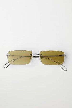 Солнцезащитные очки Drive Weekday. Цвет: зеленый