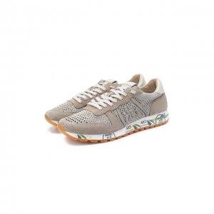 Замшевые кроссовки Eric Premiata. Цвет: бежевый