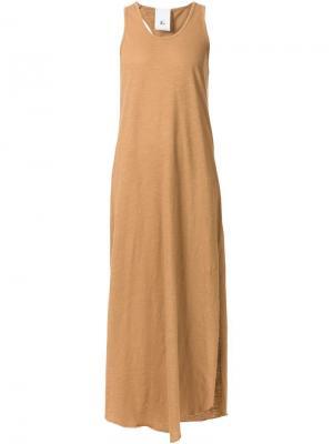 Платье-майка с вырезными деталями Lost & Found Rooms. Цвет: коричневый