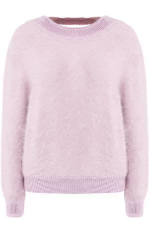 Однотонный пуловер с открытой спиной Tom Ford. Цвет: светло-розовый