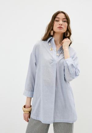 Рубашка French Connection. Цвет: голубой