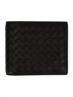 Плетеный бумажник Bottega Veneta. Цвет: коричневый