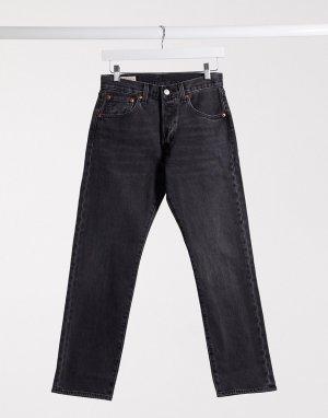 Черные прямые джинсы до щиколотки Levis 501 93-Черный Levi's