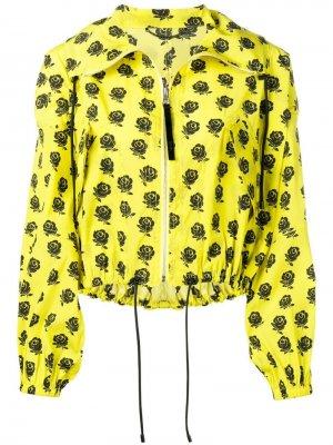 Куртка-бомбер с цветочным принтом Kenzo. Цвет: желтый