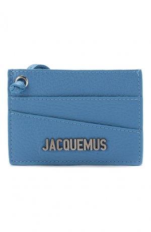 Кожаный футляр для кредитных карт Le Porte Jacquemus. Цвет: синий