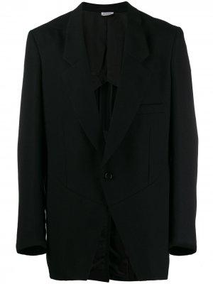 Однобортный блейзер Comme Des Garçons Homme Plus. Цвет: черный
