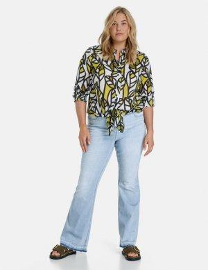 Расклешенные джинсы с низкой посадкой Betty SAMOON Gerry Weber. Цвет: light blue denim