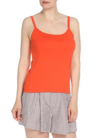 Майка American Apparel. Цвет: оранжевый