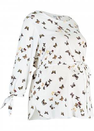 Блузка для беременных bonprix. Цвет: белый