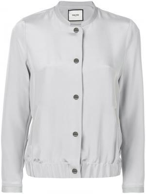 Куртка-бомбер на пуговицах Max & Moi. Цвет: серый