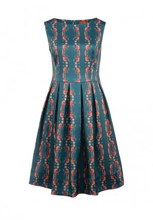Платье Анна Чапман. Цвет: зеленый