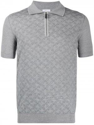 Рубашка-поло с узором Brioni. Цвет: белый