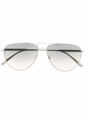 Солнцезащитные очки-авиаторы Disoriano Brunello Cucinelli. Цвет: серебристый